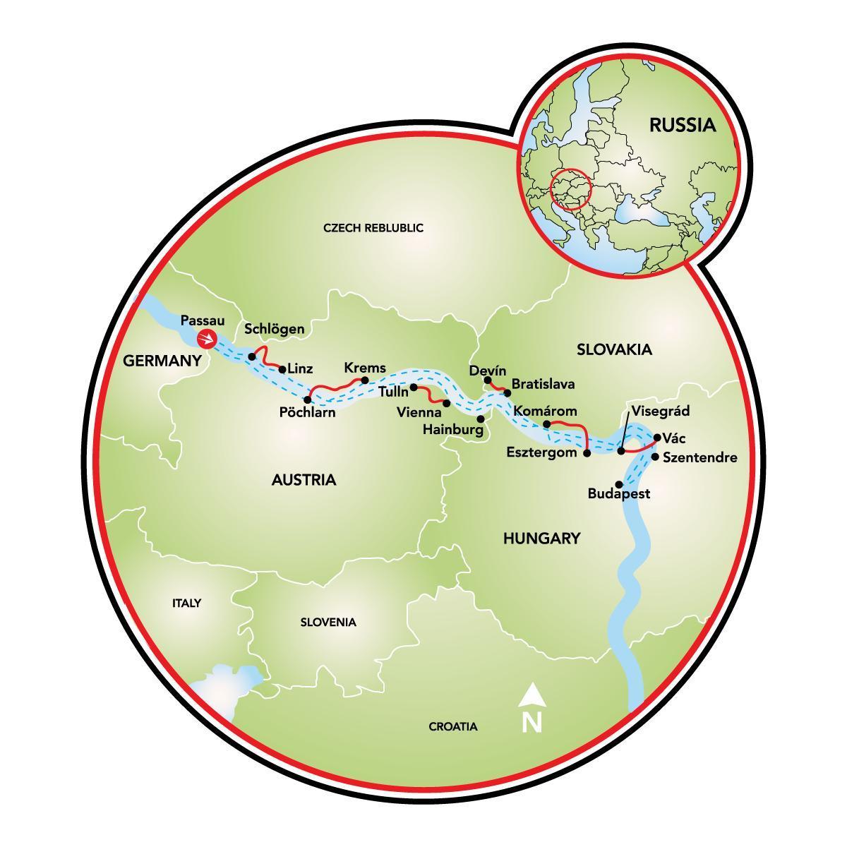 Budapest bike map - Bike map budapest (Hungary)