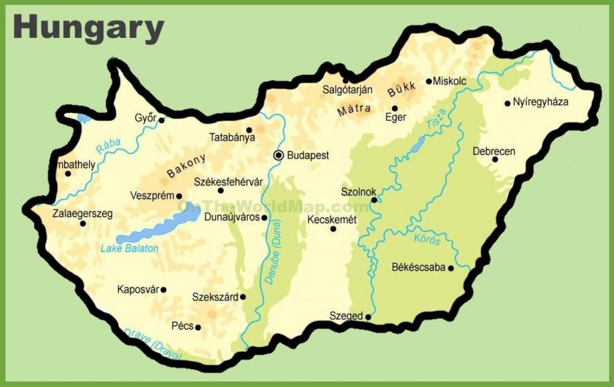Budapest map - Budapesta map (Hungary)